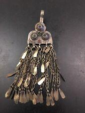 """Antique tribal Moroccan Tunisian Berber Silver Fibula Jewelry 6"""""""