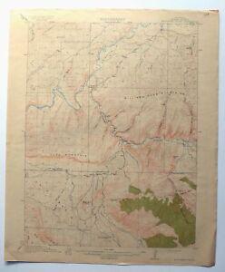 Monument Butte Colorado Antique 1915 USGS Topo Map Craig 15-minute Topographic