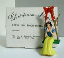 GROLIER DISNEY 128 SNOW WHITE ON SWING CHRISTMAS TREE DECORATION ORNAMENT BOXED