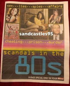 Scandals In The 80's UK Newspaper Pullout Clippings Beatles Madonna John Lennon