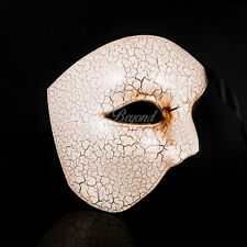 Phantom of the Opera - Venetian Masquerade Mask with Crackle Paints