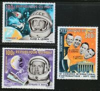 Mali 1966 MNH Sc C33-C35 Voskhod 2 and Gemini IV.Space