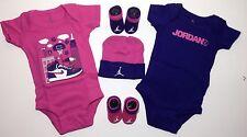 AIR JORDAN Infant GIRLS 5-pc Gift set Bodysuits, Booties & Cap Size 0-6 Mths