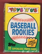 New listing 1989 Toys R Us Baseball Rookies Sealed Card Set Roberto Alomar, Gary Sheffield +