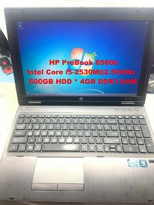 """HP ProBook 6560b_Intel Core i5-2520M@2.50GHz_500GB SATA HDD_4GB RAM_15.6"""" Screen"""