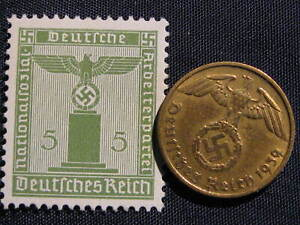 orig. old German coin and stamp