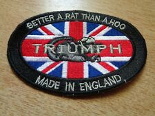 Triumph Motorcycle 'Better A Rat Than A HOG' Patch Classic Factory Jacket Badge