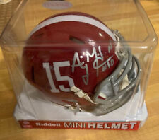 AJ McCarron #15 Alabama Crimson Tide Autographed Signed Authentic Mini Helmet