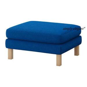 IKEA Karlstad Footstool Ottoman Slipcover Korndal Medium Blue Cover 50183827