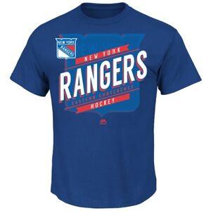 "New York Rangers Majestic NHL ""Earn Each Play"" Men's Fashion T-Shirt"