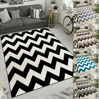 TAPISO Area Rugs Living Room Bedroom Moroccan Design Soft Zig-Zag Pattern Rug