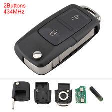 2 BTN Key Fob Flip Keyless Entry Remote Fit For 1J0 959 753 AG VW Bora Golf