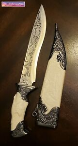 Asian Display Prop/Halloween/Cosplay Dagger Stainless Blade Knife Engraved Eagle