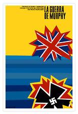 Cuban film Graphic Design movie Poster.MURPHYs war.British home film art