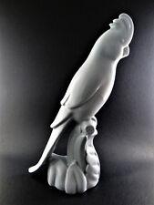 "Vintage Blue Porcelain Parrot Bird Figurine 10"" Tall (C31)"