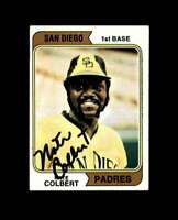 Nate Colbert Hand Signed 1974 Topps San Diego Padres Autograph