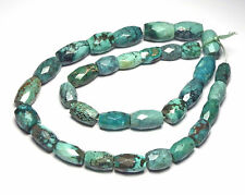 "16"" Strand TIBETAN TURQUOISE 10-16mm Faceted Barrel Beads /B4"