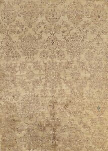 Oushak Floral Oriental Area Rug Hand-knotted Wool 8x10 ft Living Room Carpet New