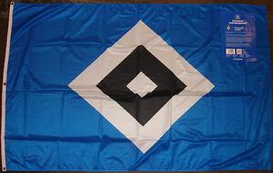 HSV Fahne  Flagge Fahne Offizielles Produkt Wetterfest Neu ca 120 x 180 cm Ösen