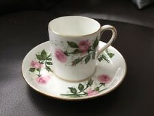 Crown Staffordshire Pink Roses Coffee Cup Can & Saucer f16683