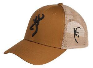 Browning Tradition Rust Tan Mesh Cap Browning Logo Snap Back OSFM 308101821