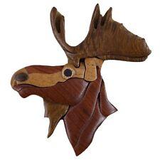 Moose Head Wooden Magnet