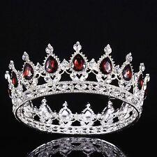 Baroque Crystal Queen Crown Tiara Headband Hair Rhinestone Princess Party