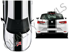 Seat fr racing stripes leon ibiza graphic decals bonnet roof boot OT10