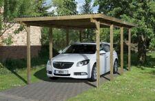 Carport Holz WEKA 3x6 m Einzel Garage Überdachung 8 Standpfosten 90x90mm