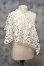 Fatto a mano L220/20 quadrato bianco cotone maglia CENTRINO 33 x 33 in (ca. 83.82 cm)