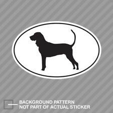American Black and Tan Coonhound Euro Oval Sticker Decal Vinyl dog canine pet