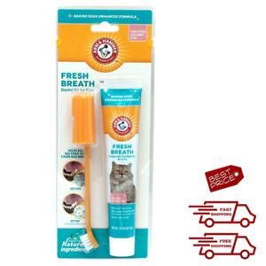Oral Dental Care for Cats Dental Kit Toothbrush Toothpaste Fingerbrush Fresh