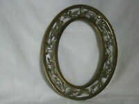 * oval enamel frame elegant plant scroll inlaid sequin photograph  wall decor
