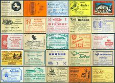 25 alte Gasthaus-Streichholzetiketten aus Deutschland #888