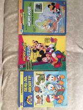 Vintage & Rare Walt Disney Coloring Book, Puzzles, Sticker Stamp Book Golden 3