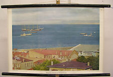 Schulwandkarte Wandkarte Magellan-Straße Punta Arenas Patagonien Chile 75x51cm