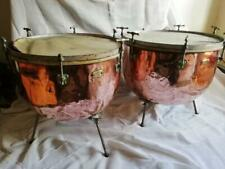 More details for fabulous pair of antique timpani  by besson c1895, victorian copper timpani