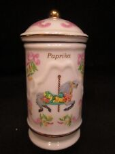 1993 Lenox Fine Porcelain The Spice Carousel Spice Jar  With Box Paprika