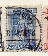 Greece 1916 Early Issue Fine Used 25l. Optd 098133