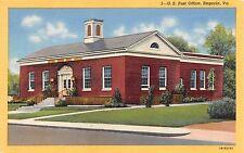 Emporia Virginia United States Post Office Postcard c1940s