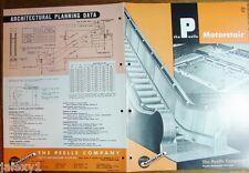 1954 PELLE Co Motorstair ESCALATORS Evergreen Park Shopping Chicago VTG Catalog