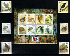 [NZ] NEW ZEALAND 1985-89-94 BIRDS, FAUNA. SET OF 6 S + SHEET OF 8 S.