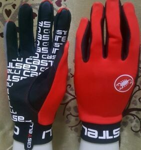 Red Brand New Castelli Scalda Winter Gloves Size Small
