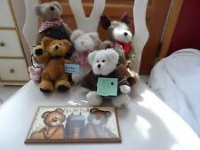 Lot of 5 Boyds Bears and a Bear plaque