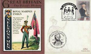 29 SEPT 2008 NELSONS MEN ROYAL MARINES ENSIGN BATTLE OF TRAFALGAR BENHAM COVER