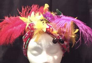 Adult Latin Lady Carmen Miranda Costume Headpiece Turban-Fabric-Floral-Fruit-NEW