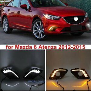 For Mazda 6 Atenza 2012-2015 DRL LED Daytime Running Light Fog Turn Signal Lamps
