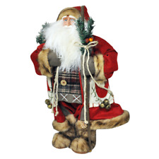 Large Father Christmas Figure 70cm Standing Santa Claus Deluxe Plush Decoration