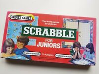 Scrabble For Juniors Vintage Board Game by Spears Two Word Games Educational Fun