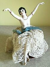 Nude German Half Doll Hands & Arms Away Lace Covered PinCushion w/attached Legs